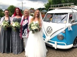 1967 VW Campervan for weddings in Bath